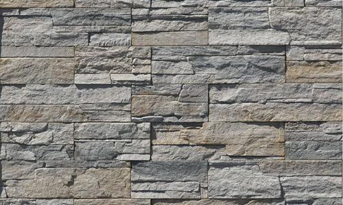 Decostone Andes Gray, architektonisches Steinfurnier, künstlicher Stein,,Oberflächenabdeckung 1.05m² pro Karton.