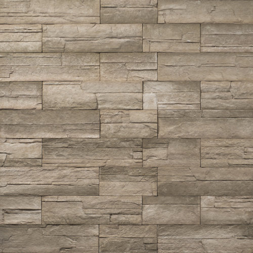 Decostone Ardennes Olive, architektonisches Steinfurnier, künstlicher Stein, Oberflächenabdeckung 1.00m² pro Karton