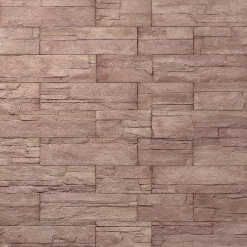 Decostone Ardennes Red, architektonisches Steinfurnier, künstlicher Stein, Oberflächenabdeckung 1.05 m² pro Karton