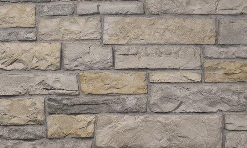 Decostone Aragone Gray, architektonisches Steinfurnier, künstlicher Stein, Oberflächenabdeckung 1.00m² pro Karton.