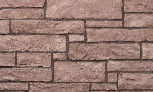 Decostone Aragone Red, architektonisches Steinfurnier, künstlicher Stein, Oberflächenabdeckung 1.00m² pro Karton.
