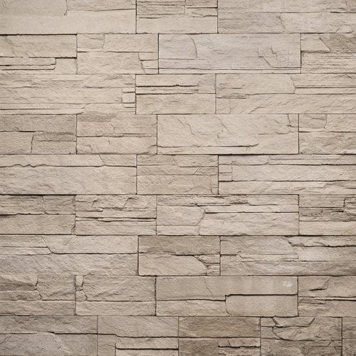 Decostone Ardennes Beige, architektonisches Steinfurnier, künstlicher Stein, Oberflächenabdeckung 1.00m² pro Karton