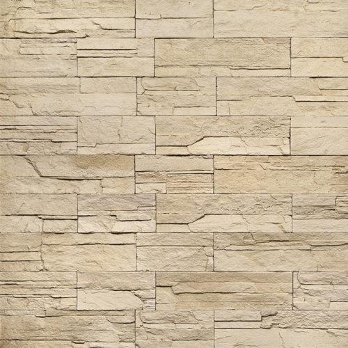 Decostone Ardennes Cream, architektonisches Steinfurnier, künstlicher Stein, Oberflächenabdeckung 1.00m² pro Karton
