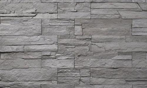 Decostone Ardennes Gray, architektonisches Steinfurnier, künstlicher Stein, Oberflächenabdeckung 1.00m² pro Karton