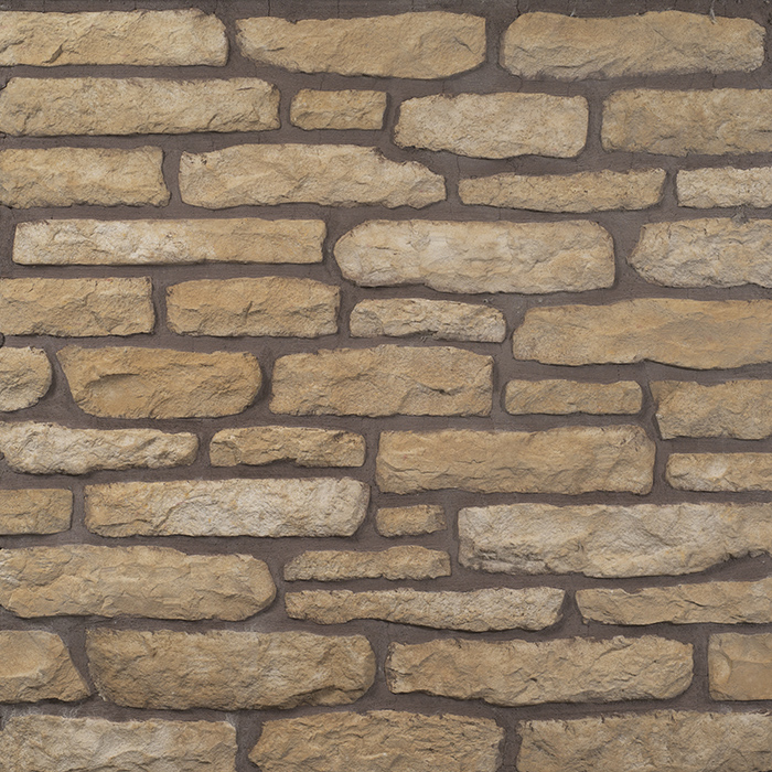 Decostone Armorique Gold, architektonisches Steinfurnier, künstlicher Stein, Oberflächenabdeckung 1.00m² pro Karton.