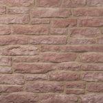 Decostone Armorique Red, architektonisches Steinfurnier, künstlicher Stein, Oberflächenabdeckung 1.00m² pro Karton.