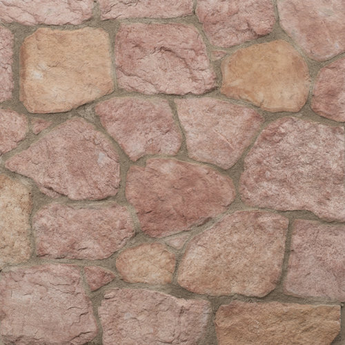 Decostone Savoie Red, architektonisches Steinfurnier, künstlicher Stein, Oberflächenabdeckung 1.00m² pro Karton.