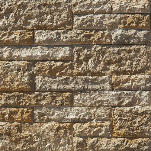 Decostone Vermont Gold, architektonisches Steinfurnier, künstlicher Stein, Oberflächenabdeckung 0.65m² per Karton.