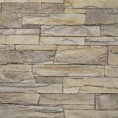 Decostone Vivid Beige, architektonisches Steinfurnier, künstlicher Stein, Oberflächenabdeckung 1.00m² pro Karton
