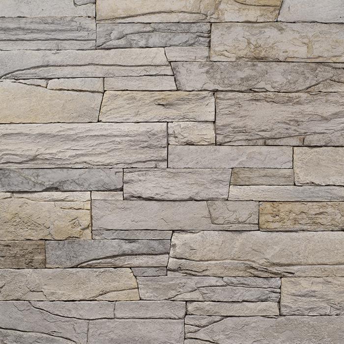 Decostone Vivid Gray, architektonisches Steinfurnier, künstlicher Stein, Oberflächenabdeckung 1.00m² pro Karton