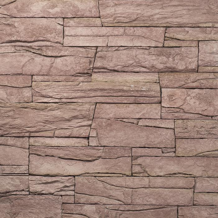 ecostone Vivid Red, architektonisches Steinfurnier, künstlicher Stein, Oberflächenabdeckung 1.00m² pro Karton