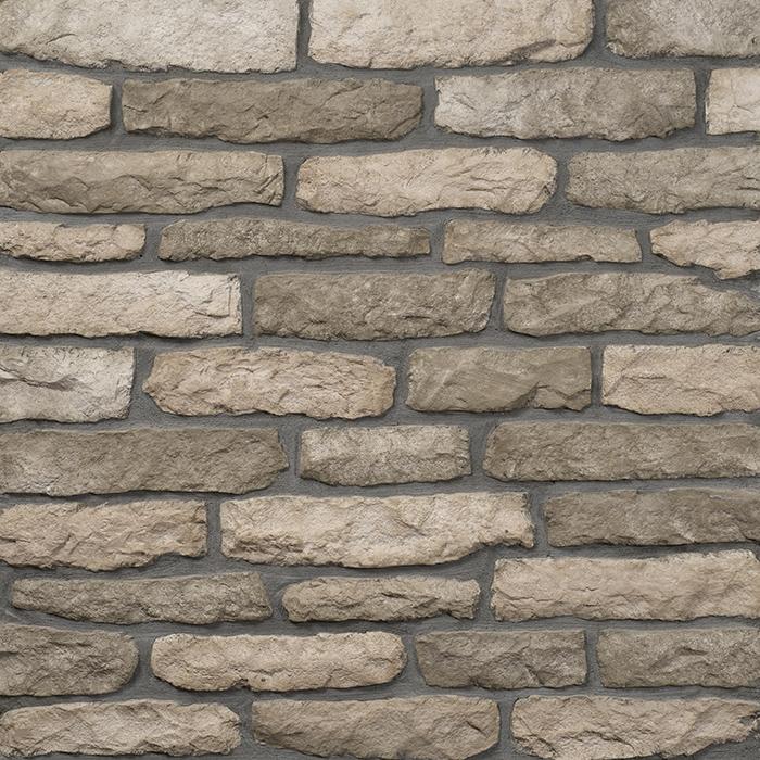 Decostone Armorique Olive, architektonisches Steinfurnier, künstlicher Stein, Oberflächenabdeckung 1m² per Karton.