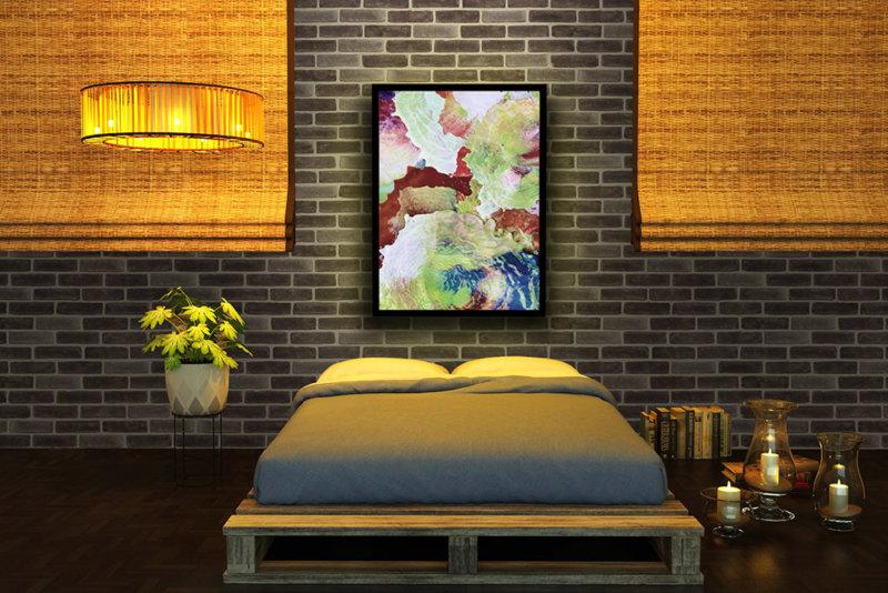 Moderner Schlafzimmer für junge Leute mit Verblender aus Decobrick