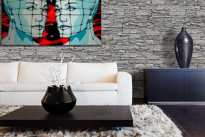 Mit seiner einzigartigen Textur ist Vivid Grey die perfekte Lösung für moderner Wohnzimmer.