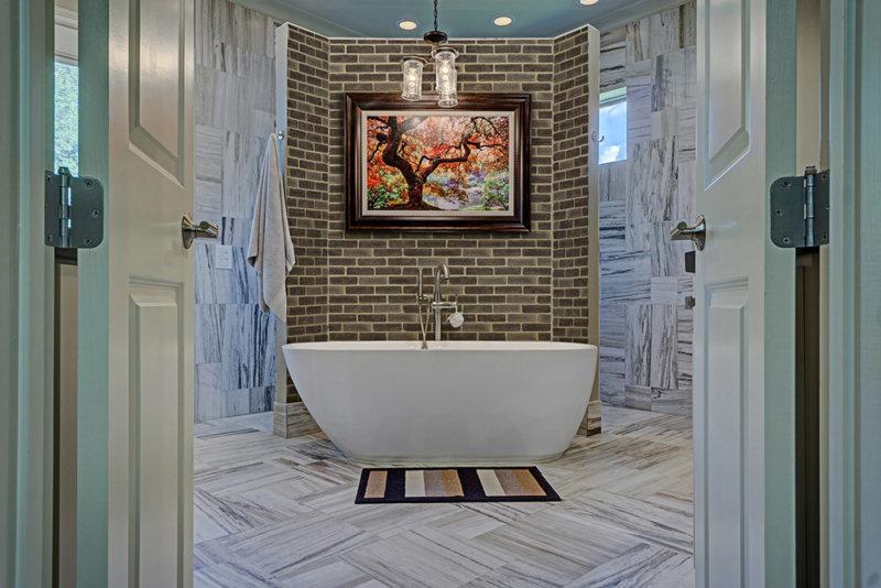 Badezimmer anders als die gemeinsame mit Dekoratives Verblender zusammen mit Marmor eine brillante Idee