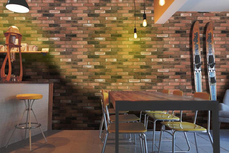 Bar irgendwo in Norddeutschland mit Wandverkleidung aus Decobrick Aged